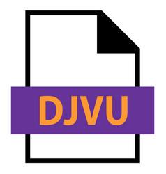 File name extension djvu type vector