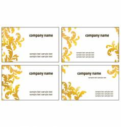 four variants of greeting cards vector image