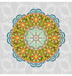 Ornamental round Paisley vector image vector image