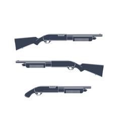 shotguns isolated on white vector image vector image