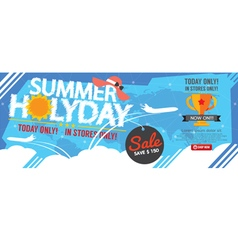 Summer Holiday Sale Banner 1500x600 Pixel vector image vector image