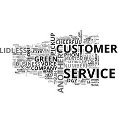 when did customer service breakup text word cloud vector image vector image