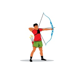 Athlete archery sign vector image