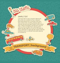 big traffic doodle background vector image