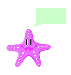 cute sea star talking thinking isolated vector image