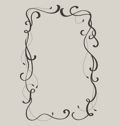 decorative vintage frame and borders art vector image vector image