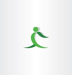 green man exercise logo icon vector image
