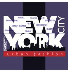 NYC t-shirt skyline vector image