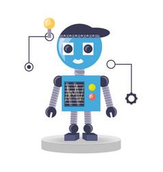 robot cartoon design vector image vector image