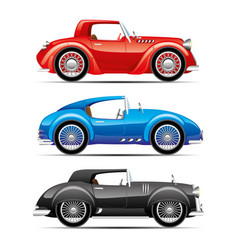 Set of retro cars vector