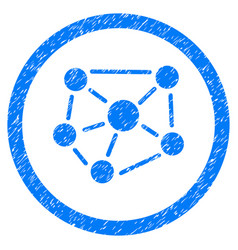 social graph rounded grainy icon vector image