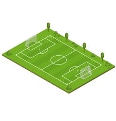 Green Grass Football Field vector image