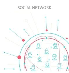 Social Media Circles Network Icon vector image