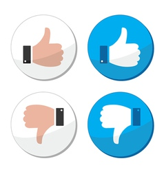 Thumb up and down like icon set vector image vector image