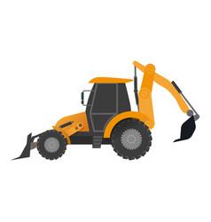 tractor bucket icon flat style vector image