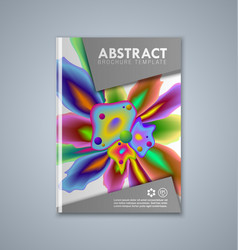 abstract brochure or book cover template on grey vector image