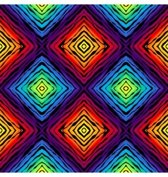 Abstract exotic pattern on rainbow colorful vector image