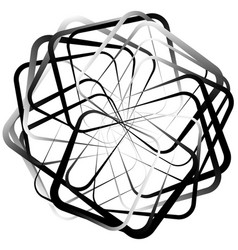 Abstract spirograph like shape with rotating vector