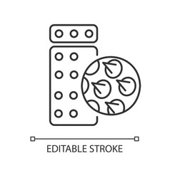 Acupressure massage mat and pillow linear icon vector