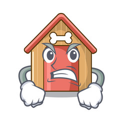 angry dog house isolated on mascot cartoon vector image