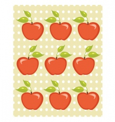 Apple tree background vector