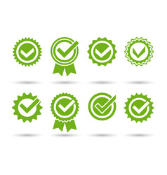 approved tick stamps vector image