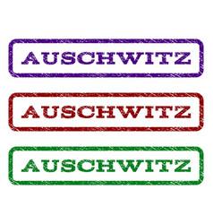 auschwitz watermark stamp vector image