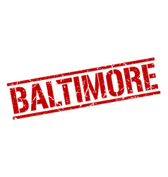 Baltimore red square stamp vector