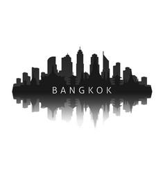 bangkok skyline silhouette in black vector image