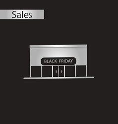Black and white style icon shop black friday vector