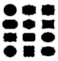 blank frame label mega set vector image
