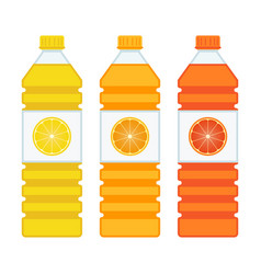 bottles with juice vector image