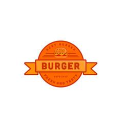 burger logo inspiration isolated on white vector image