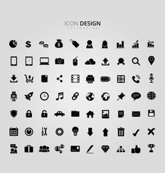 business and graphics icon set vector image