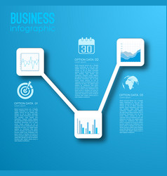 Business web infographic template vector