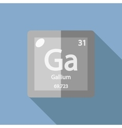 Chemical element Gallium Flat vector image