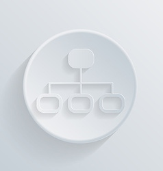 circle icon with a shadow server network vector image