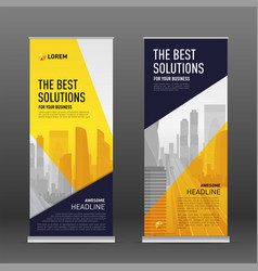 Corporate roll up banner design template vector