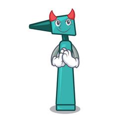 Devil otoscope mascot cartoon style vector