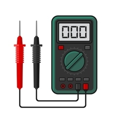 Digital multimeter Electrical Measuring vector