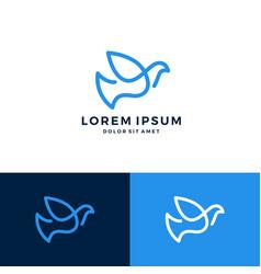 dove logo line art outline logo download vector image
