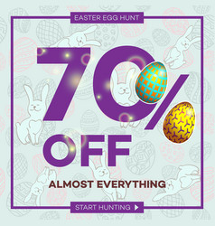 Easter egg sale banner background template 21 vector