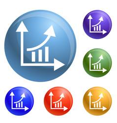 finance graph chart icons set vector image
