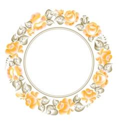 Gzhel style circle frame vector