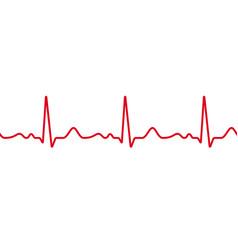 Heart cardiogram pulse heartbeat vector