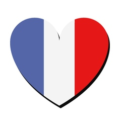 Heart with flag of france vector