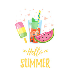 Hello summer design vector