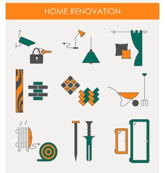 Home renovation icons vector
