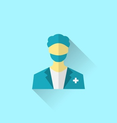 Icon of medical doctor with shadow in modern flat vector
