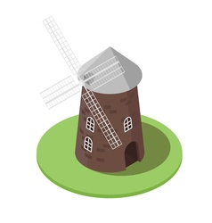 Isometric 3d of windmill vector image